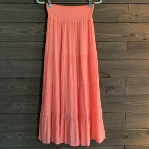 J. Gee Coral Pink Maxi Skirt